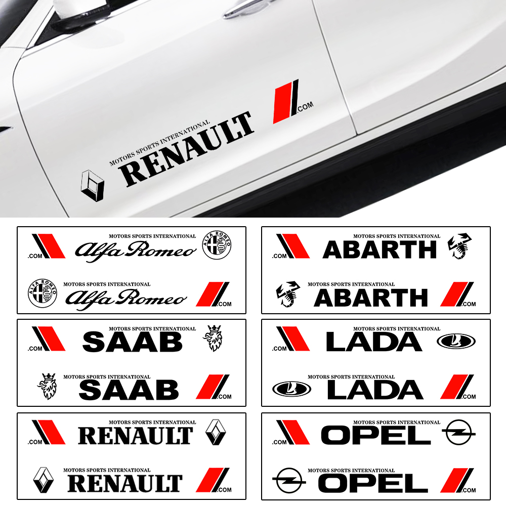 2pcs/set Car Logo Decal Styling Car Door Side Stickers Accessories Body Decals for Bmw Audi Honda Toyota Ford Nissan Kia Opel-in Car Stickers from Automobiles & Motorcycles