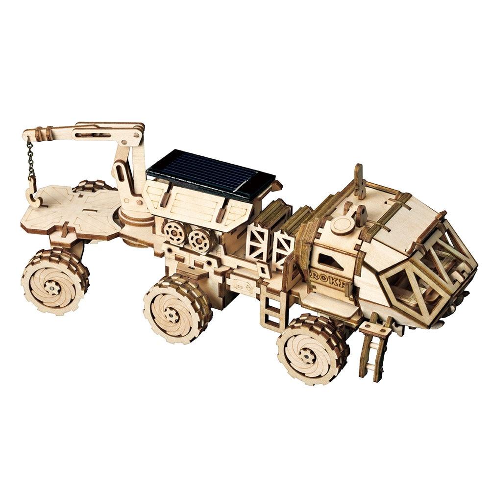 Image 5 - Robotime ROKR DIY Solar Energy Toys Model Building Kit Space Hunting Assembly Toys For Children KidsModel Building Kits   -