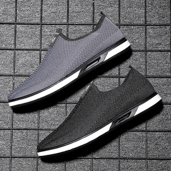 Shoes Men's Sneakers Mesh Casual Slip-On Lightweight Loafers Breathable Driving Zapatillas Hombre Casual Outdoor Sock Shoes Men fashion black white men shoes sneakers slip on platform mesh men casual shoes breathable outdoor mens trainers zapatillas hombre