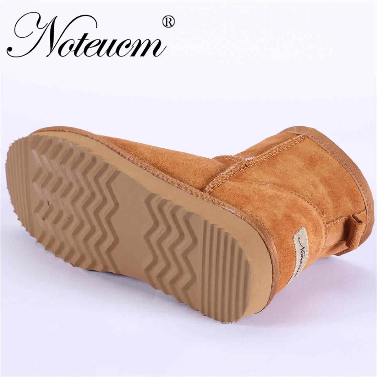 Couro genuíno do sexo feminino inverno peludo austrália sapato bezerro bota alta com forrado pele do falso botas de neve de pelúcia para mulher menina australiana