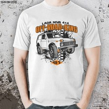 Baumwolle Mode Lada Niva 4X4 Sport Taiga Off Road Lada Off Road King Niva T-Shirt Tees(China)