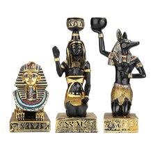 Figurines en résine bougeoir rétro déesse égyptienne antique Sphinx Anubis forme chandelier artisanat ornements décoratifs pour la maison