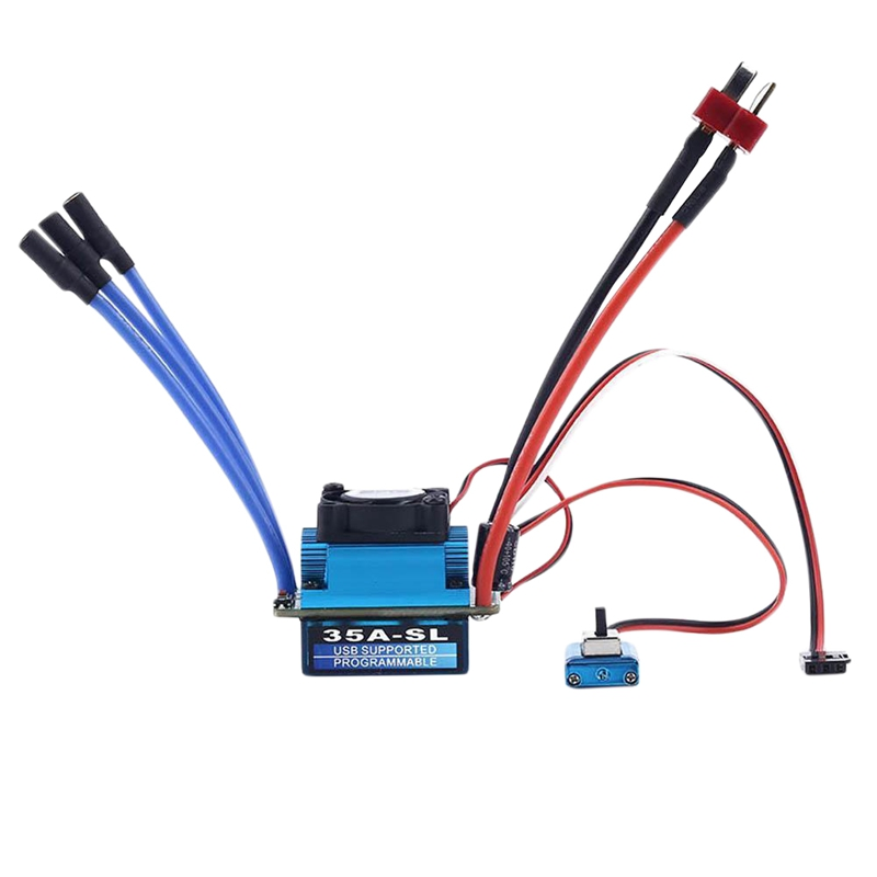 Racing <font><b>35A</b></font> <font><b>Esc</b></font> Brushless Electric Speed Controller For 1:12 1:10 Rc Car Truck Mt image