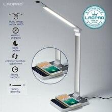 Led Bureaulamp 72 Lamp 3 Kleur Hand Sweep Draadloos Opladen Voor Telefoon 360 Graden Rotatie Touch Eye Protect met Timer Tafellamp