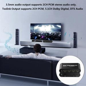 Image 4 - HDMI ses Extractor dönüştürücü 5.1CH/ 2CH ses dağıtıcı kablosu 4k Stereo Analog HDMI HDMI optik SPDIF adaptörü dönüştürücüler