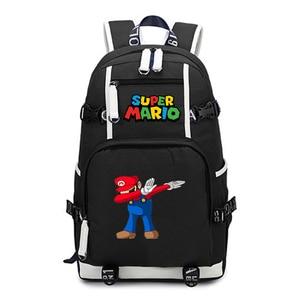 Image 1 - סופר מריו תרמיל נסיעות כתף מחשב נייד שקיות אנימה Backbag בני נוער ילדים בית ספר תלמיד שקיות תיק של