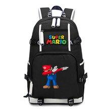 Mochila De Super mario de viaje para ordenador portátil, mochila de Anime para adolescentes, mochilas escolares para estudiantes