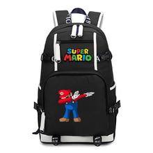Sac à dos à bandoulière de voyage Super mario, cartable animé, pour les enfants et les adolescents, pour lécole, sacs pour ordinateur portable