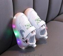 Original disney mickey mouse luz led sapatos crianças tênis de incandescência meninas meninos dos desenhos animados sapatos casuais da criança infantil ao ar livre