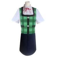 Game Animal Crossing cosplay costume Shizue role Isabelle Cos shirt vest skirt tie suit business wear Green secretary uniform