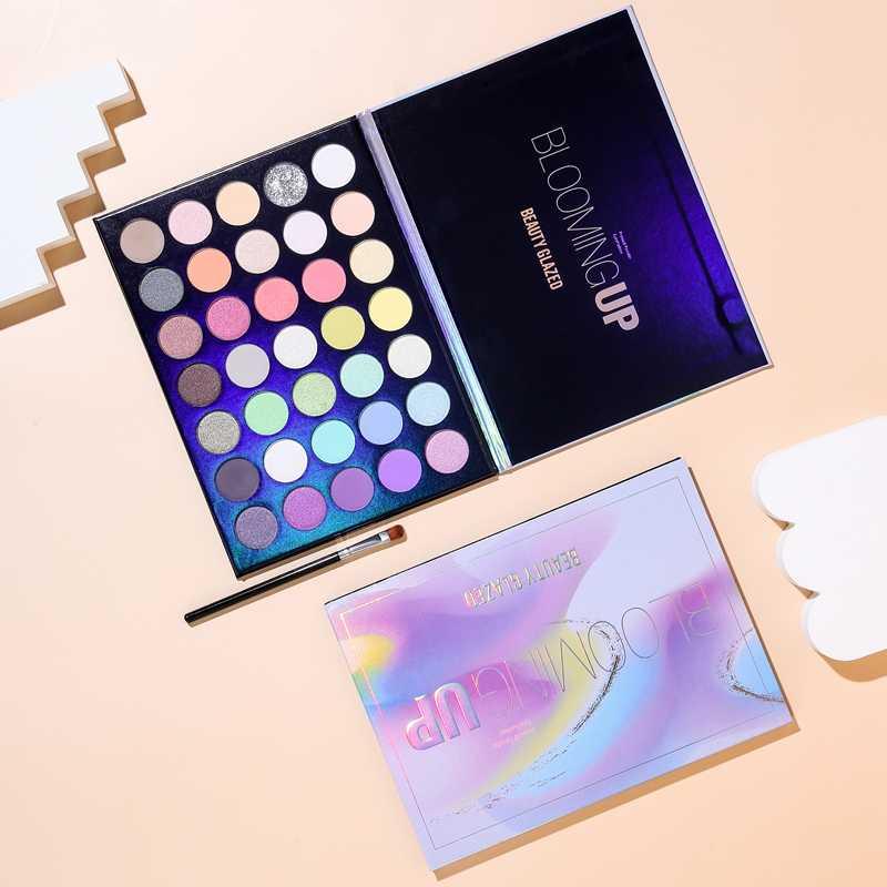 美容施釉新メーキャップ 35 色咲くアップアイシャドウパレットpigmentdきらめきアイシャドウパレット化粧品