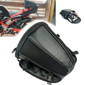 Motorcycle Tail Bag Motorbike Seat Back Bag Saddle Bag Rear Seat Package custom made Motorbike Travel Saddle Tail Handbag ring detail saddle bag