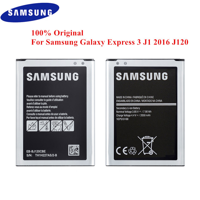 100% Original Battery EB BJ120CBE for Samsung Galaxy Express 3 J1 2016 J120 SM J120F J120A J120F/DS J120H J120DS J120T J120M