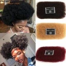 Rebecca-mèches Afro naturelles crépues bouclées, couleur naturelle, sans trame, pour tressage, 1 lot de 50g/pièce