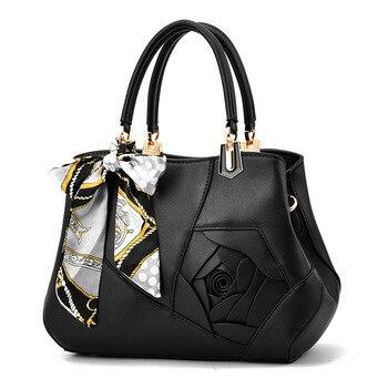 2019 New Fashion Women's Bag Casual Big Bag Handbag Rose Shoulder Messenger Bag  Luxury Handbags Women Bags Designer