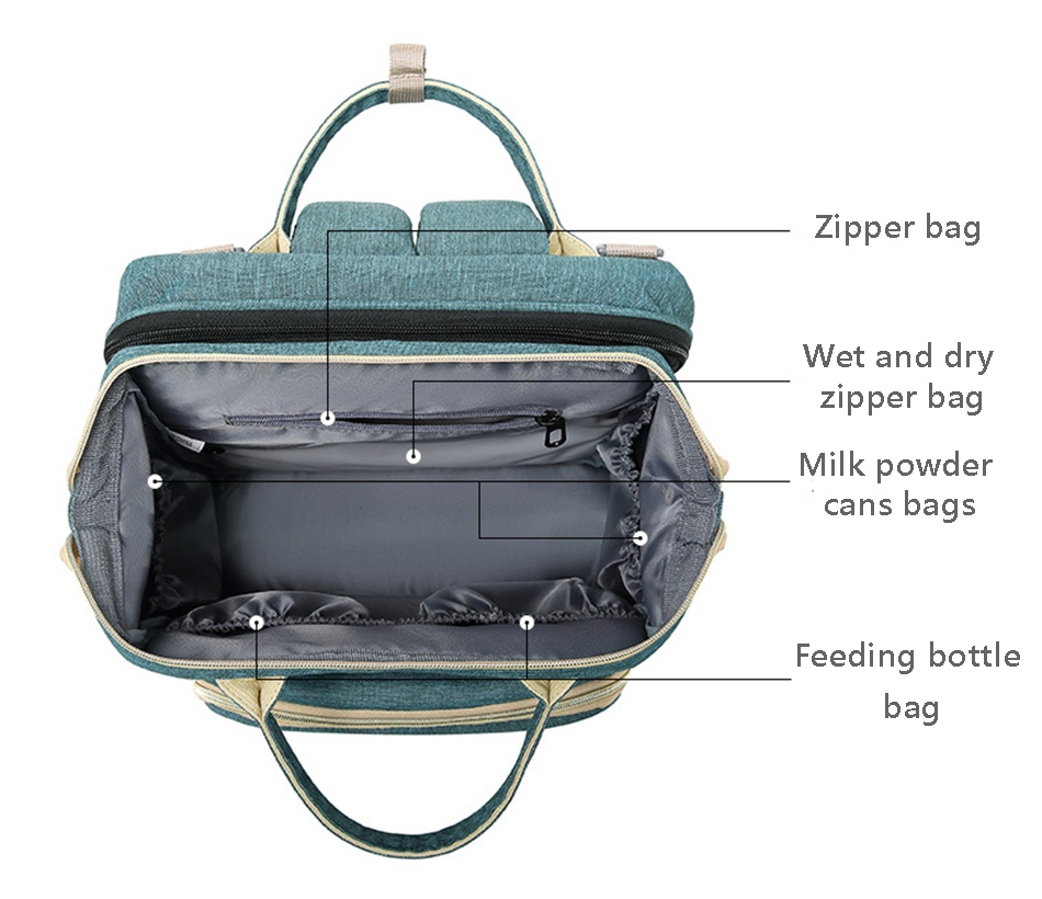 Traval Diaper Bag Moms and Dads Backpack Multifunctional Baby Bed Bags Maternity Nursing Handbag Stroller Bag Dropshipping