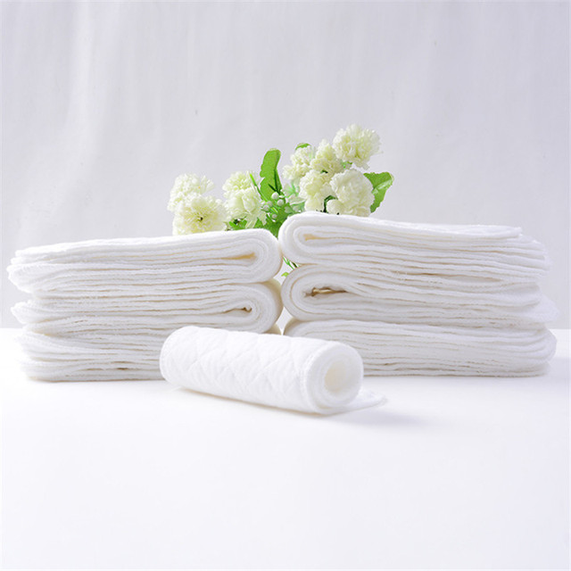 5PC Reusable Nappy baby Bamboo Eco 100% Cotton Inserts 1 piece 3 Layer Diapers Changing Cloth Diaper Washable Baby Care Products