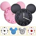 Современные 3d настенные часы Микки Маус  большие настенные часы с батарейным питанием  цифровые настенные часы  украшение для спальни  гост...