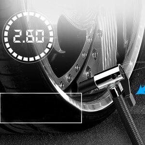 Image 3 - مضخة ضاغط هواء للسيارة عالمية منفاخ إطارات رقمي 120 واط 150PSI مضخة هواء مع مقياس إيقاف تلقائي وطوارئ قوية