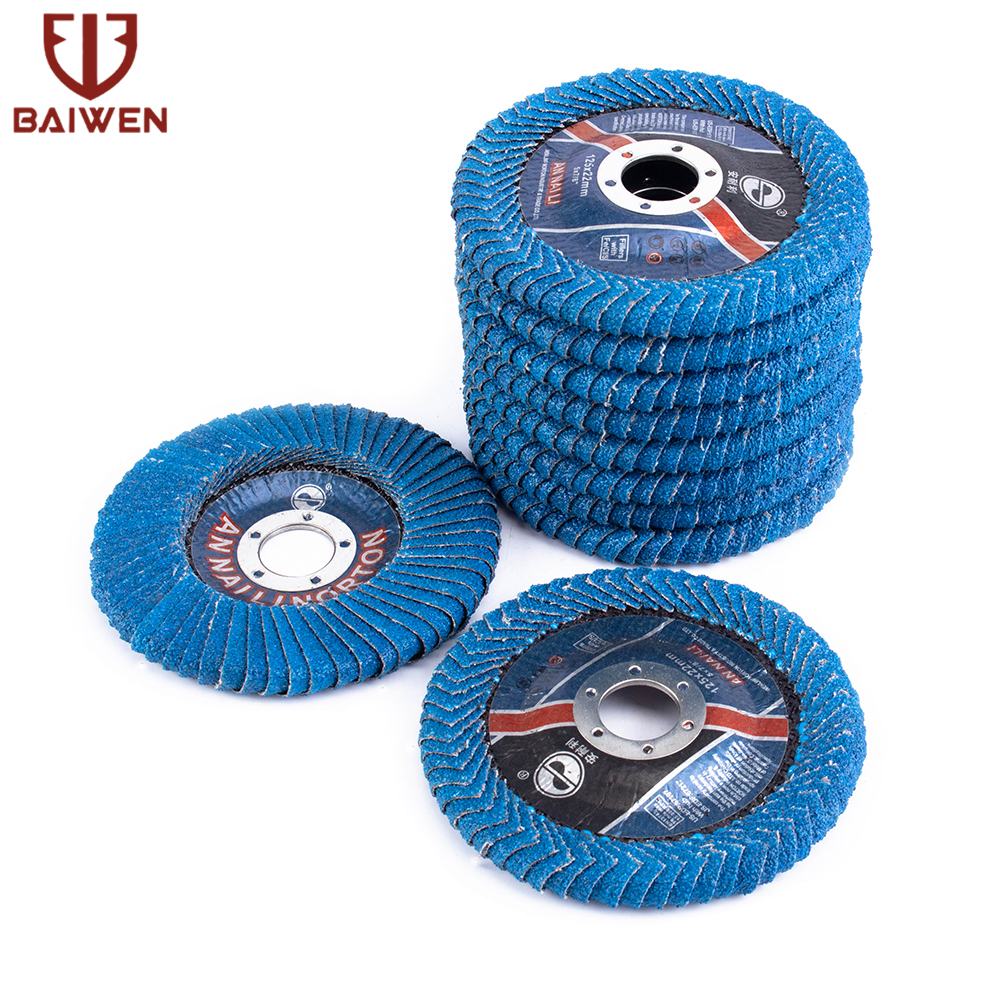 125mm 5 Inch Professional Flap Discs Sanding Discs 60Grit Grinding Wheels Blades For Angle Grinder 2-10PCS