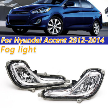 цена на COOYIDOM Fog Lamp Assembly Replacement Bumper Clear Lens Fog Light Fit For Hyundai Accent 2012-2016 922021R000 922011R010