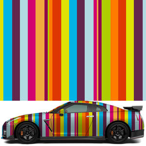 Sticker Decals Vinyl-Wrap Car-Wrapping Rainbow-Stripes for Bomb-Film Whole-Roll