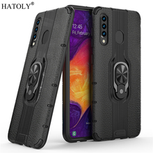 For Samsung Galaxy A30 Case Armor Finger Ring Rubber PC Hard Back Phone