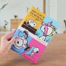 Cartoon Lovely Dog Soft Black Cover Case For iPad Air 1/2 New Stander Pro 10.5 mini Auto Wake Up/Sleep