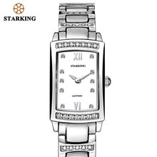 все цены на STARKING 2017 Relogio Feminino Women Analog Quartz Bracelet Watches With Cz Stone Luxury Rose Gold Full Steel Ladies Watch Gift онлайн
