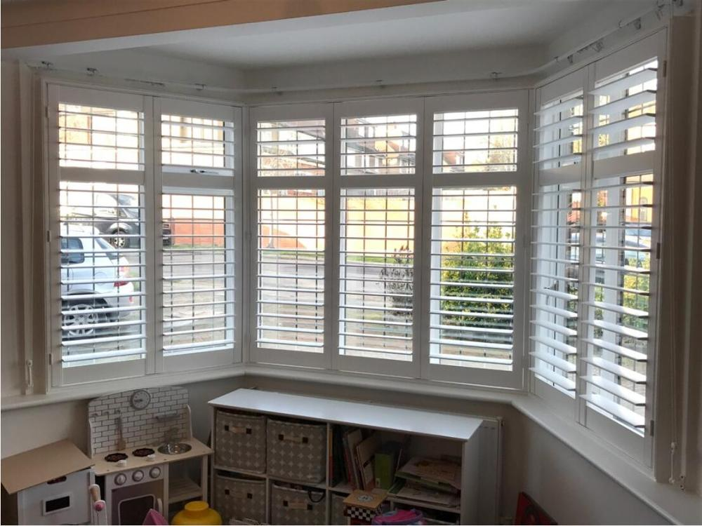 Custom Basswood Plantation Shutters Wooden Blinds Solid Wood Shutter Louvers PS256
