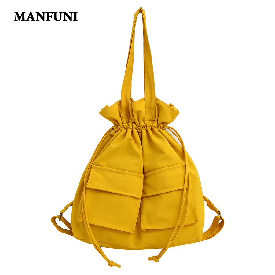 Fashion Women Canvas Backpack Fashion Design Women Backpacks Collapsible Multifunction Tote Bag Shoulder Backpack Mochila 2019|Backpacks| |  - title=