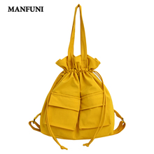 Fashion Women Canvas Backpack Fashion Design Women Backpacks Collapsible Multifunction Tote Bag Shoulder Backpack Mochila 2019 trendy color block and canvas design women s tote bag