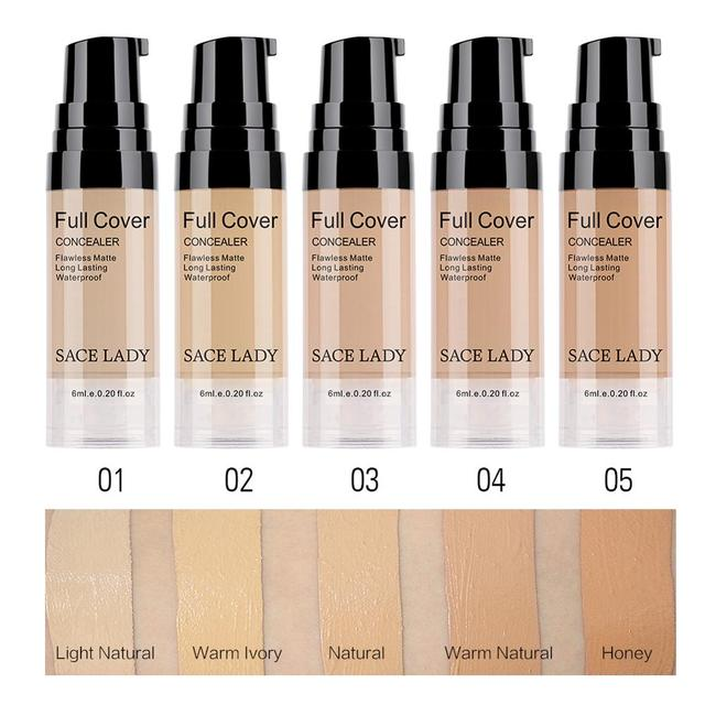 SACE LADY Professional Eye Concealer Makeup Base 6ml Full Cover for Eye Dark Circle Face Liquid Corrector Cream Make Up Cosmetic 1