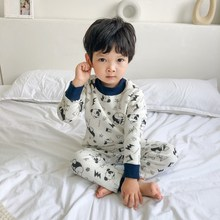 Baby Clothing Thermal-Underwear-Set Home-Pajamas-Set Kids Sleepwear Children's Cartoon