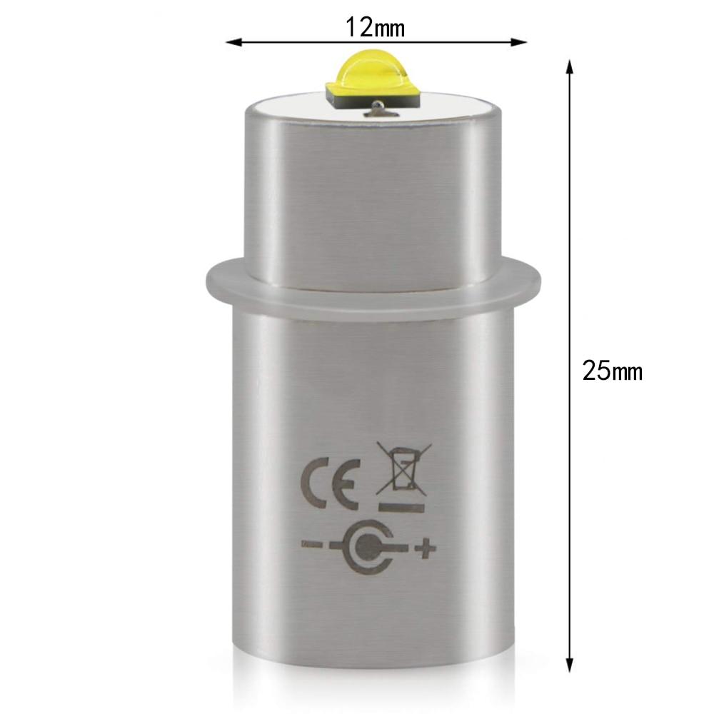 2pcs LED Light Bulbs 3w 3v 4-12v 6-24v 18v Conversion Kit Upgrade Bulb 2 3 4 5 6 Cell D/C For Maglite Torch Magnesium Flashlight