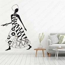 Room Decoration Wall Sticker Wall Decal Vinyl Stickers African Women Home Interior Design Art Decal Office Murals  LW619 цена