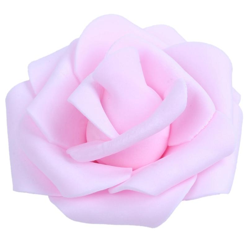 50x Wedding Fake Rose Artificial Foam Flower Party Garden Home Décor Purple