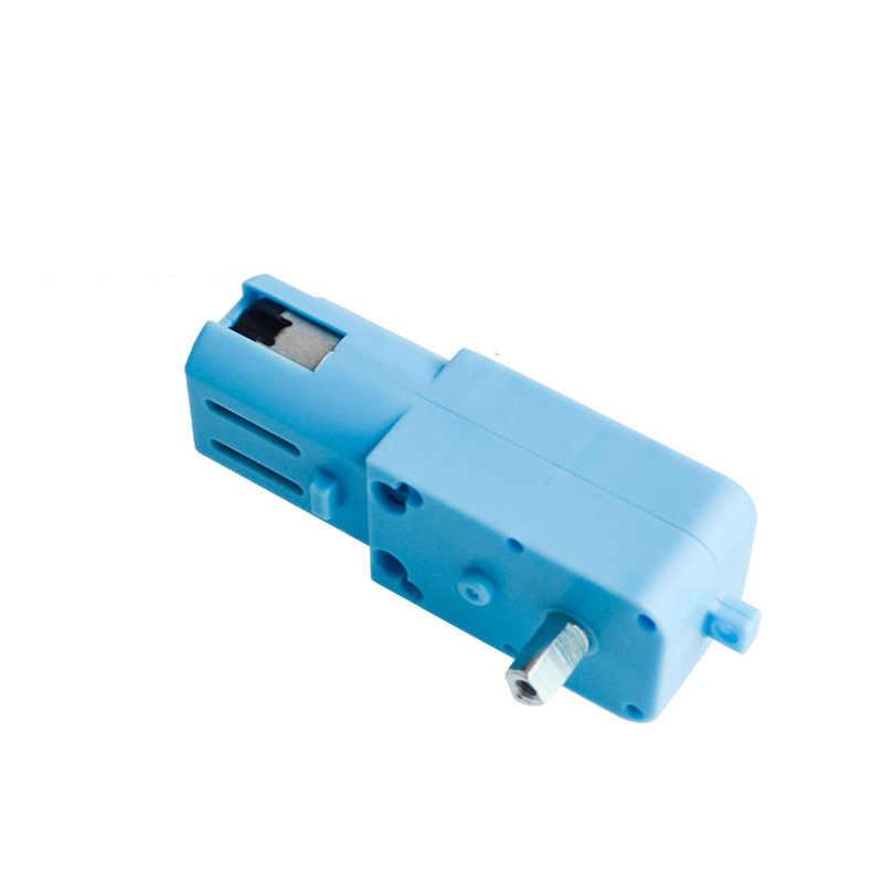 1 pces dc 3 v-6 v metal/plástico tt motor inteligente carro robô engrenagem do motor para arduino diy kit rodas inteligente chassis do carro engrenado rc carro