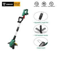 DEKO DKGT06 20V Electric Cordless Grass String Trimmer Pruning Cutter with 1500mAh Lithium Battery Pack Home DIY Garden Tools