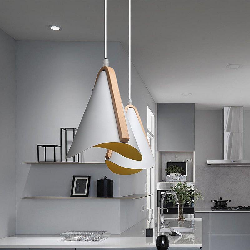Nordic Modern hanging loft 7 Color Glass lustre Pendant Lamp industrial decor Lights Fixtures E27/E26 for Kitchen Restaurant|Pendant Lights| |  - title=