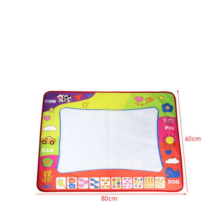 Children Large Size Magic Monochrome Water Canvas Doing Homework Blanket Graffiti Baby Children'S Educational Toy 80*60