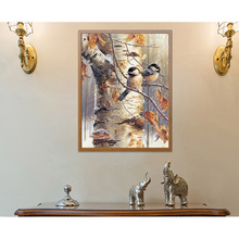 5D Diamond Painting Embroidery Bird On The Branch Pattern Cross Stitch new