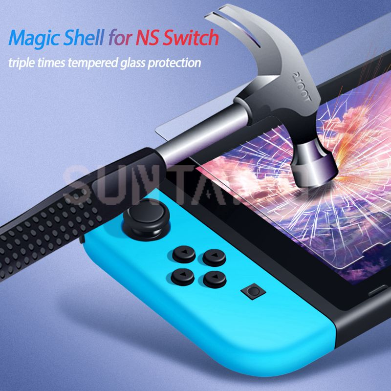 3PC Tempered Glass 9H HD Screen Protector Film For Nintendo Switch NS Screen Protector For Nintendo Switch Lite Accessories 3