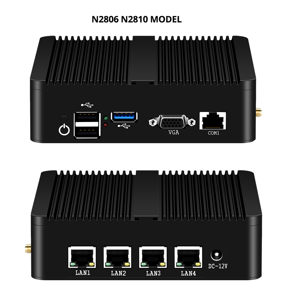 Image 5 - XCY Intel Celeron J1800 J1900 N2806 Firewall Soft Router Mini PC Intel Gigabit Ethernet NIC 4xRJ45 WiFi USB HDMI VGA SIM Pfsense-in Mini PC from Computer & Office