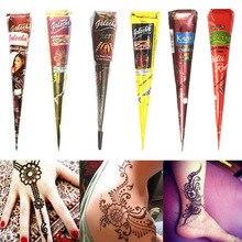 1 шт индийская Хна тату паста конус краска для тела Временные татуировки хной Менди боди-арт стикер Менди краска для тела
