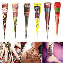 Pasta de tatuagem de henna indiana, tinta temporária para o corpo, arte corporal, adesivo, pintura corporal mehndi, 1 peça