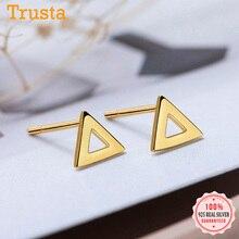 Stud-Earrings Fine-Jewelry Geometric 925-Sterling-Silver Wedding-Party Women Real Round