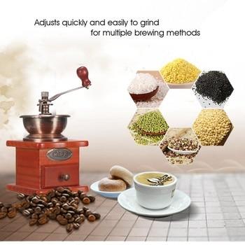 Molinillo de madera Vintage Manual para café, jarra de café en grano,...