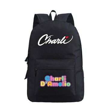 School Bags for Teenage Girls Charli Damelio Backpack Women Mochilas Escolares Bookbag Laptop Back Pack Men Kawaii Backpack Kids 15