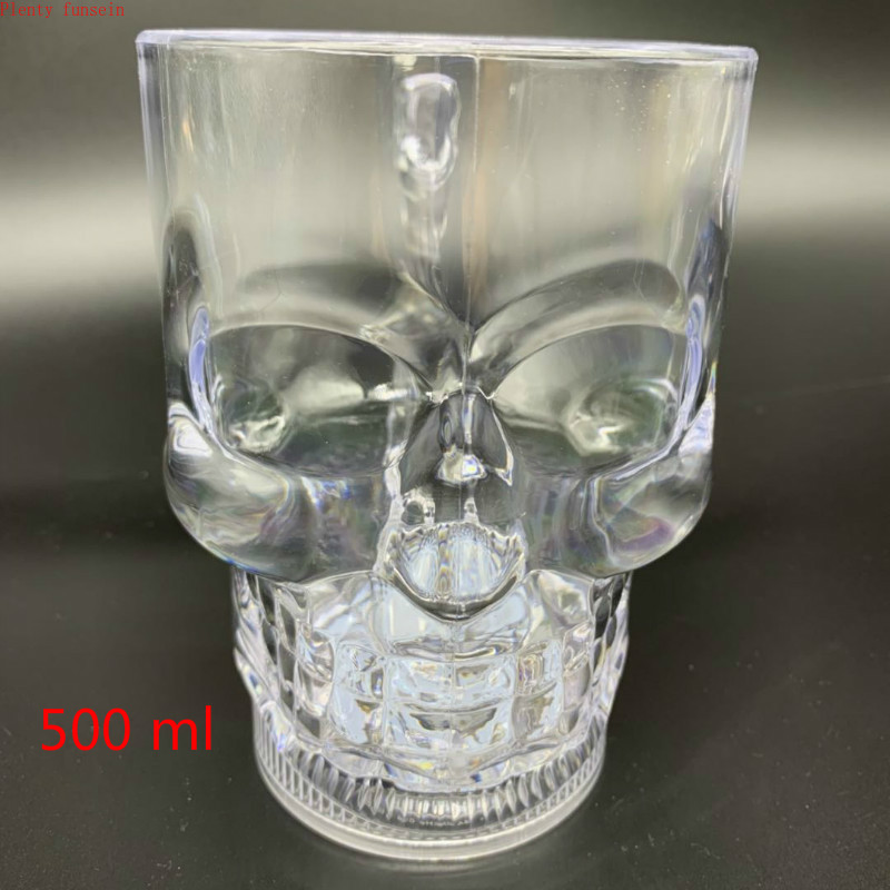 cute LED Automatic Flashing Cup Sensor Light Up skull Mug Wine Beer Whisky  Drink   Christmas Party Bar Club drinkware 400~550ml